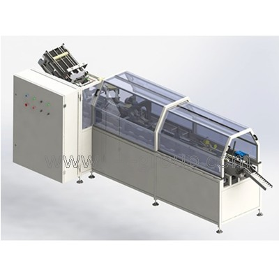 Automat for individual and group packaging into cardboard boxes Glider