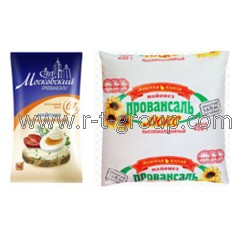 Packaging of mayonnaise