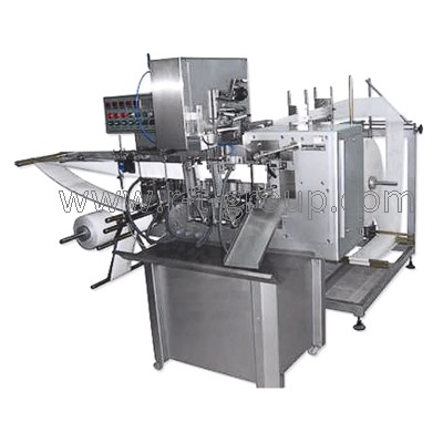 Automat for production of wet wipes