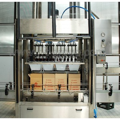 Linear group packaging machine into carton box 18000 boxes / hour