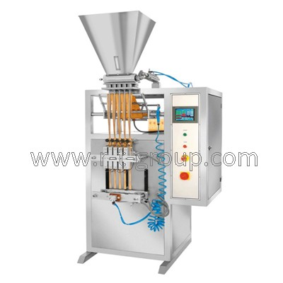 Packaging machine for bulk products into stick sachet bags