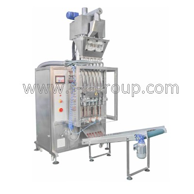 Packaging machine for powder products into stick sachet bags